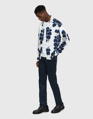 Saturdays NYC Marco Orchid Button Up Shirt in White