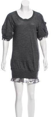 Sacai Wool Mini Dress