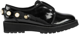 Suecomma Bonnie Faux Pearl Strap Patent Leather Loafer