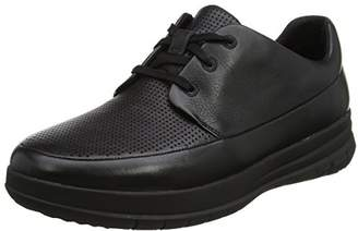 FitFlop Men's Sporty-Pop Perforated Sneaker Trainers, (Black), 41 EU