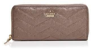 Kate Spade Reese Park Lindsey Metallic Leather Continental Zip Wallet