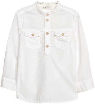 H&M Henley Shirt - White