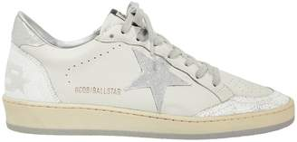 Golden Goose Ball Star Silver Star Low-Top Sneakers