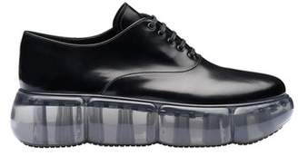 Prada Leather Oxford Shoes With Rubber Sole