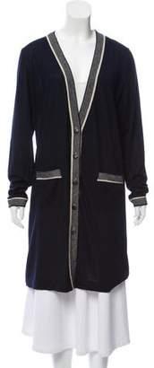 Chanel Silk-Cashmere Longline Cardigan