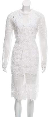 Jonathan Simkhai Textured Mesh Dress w/ Tags