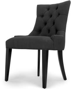 Flynn Scoop Back Chair, Midnight Black