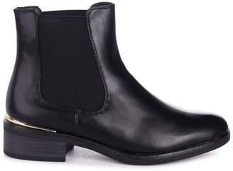 288a343aa4e Lani Linzi Black Nappa Classic Slip On Chelsea Boot