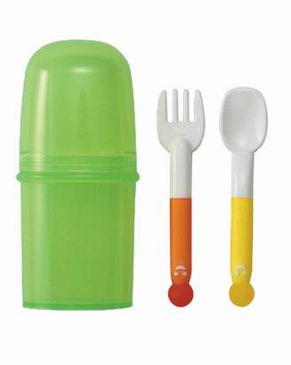 Pigeon Spoon and Fork Training Set with Storage Case (japan import)
