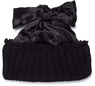 Bernstock Speirs Oversized satin bow knit beanie