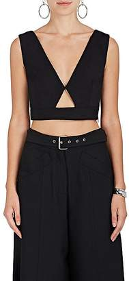 Derek Lam Women's Cutout Cotton-Blend Crop Top