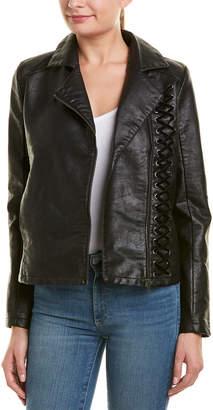 Design History Moto Velvet Laced Jacket