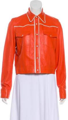 Ralph Lauren Long Sleeve Leather Jacket