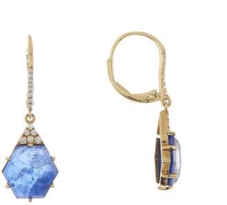 Meira T 14K Yellow Gold Sodolite & Diamond Earrings