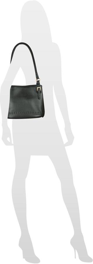 Fontanelli Black stiched Soft Leather Handbag