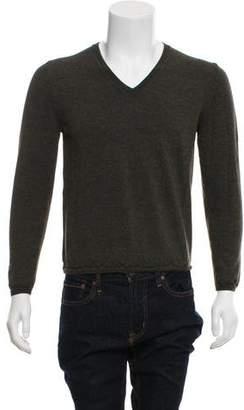 Prada V-Neck Knit Sweater