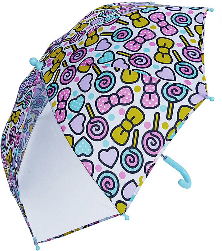 Multi-Bow & Candy Clear-Panel Umbrella