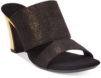 Onex Citylife Block-Heel Sandals $140 thestylecure.com