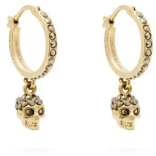 Alexander McQueen Skull Hoop Earrings - Womens - Gold