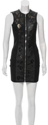 Anthony Vaccarello Leather Embellished Dress