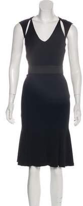 Blumarine Cutout Midi Dress
