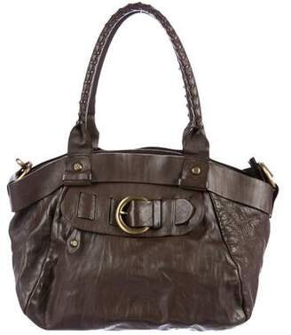 Francesco Biasia Buckle-Accented Leather Satchel