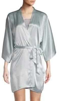 Samantha Chang Classic Silk Short Kimono Wrap