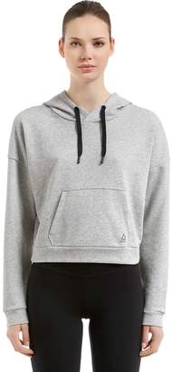 Hooded French Terry Cropped Sweatshirt