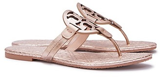 Tory Burch Miller Sandals, Metallic Quilted Leather $195 thestylecure.com