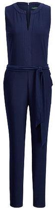 Ralph Lauren Lauren Stretch Jersey Jumpsuit $155 thestylecure.com