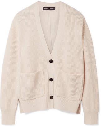 Oversized Cotton-blend Cardigan - Cream