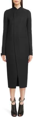 Rick Owens Double Face Wool Blend Coat
