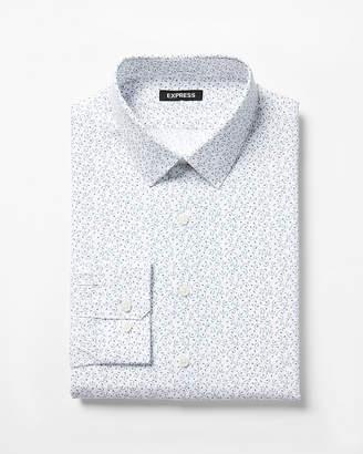 Express Slim Patterned Dress Shirt