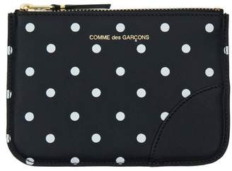 Comme des Garcons Printed Dot Small Leather Zip Pouch