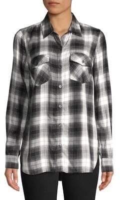 Jessica Simpson Petunia Plaid Button-Down Shirt