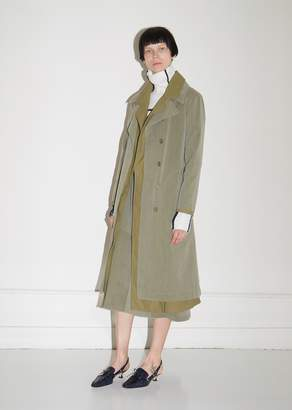 Sies Marjan Devin Cotton Canvas Trench Coat