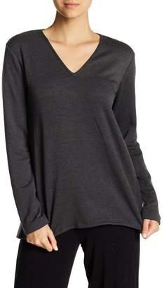 Natori V-Neck Brushed Sweater