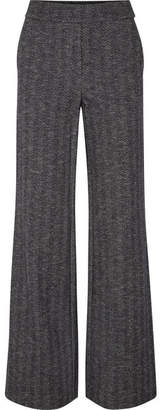 Theory Talbert Herringbone Wool-blend Straight-leg Pants - Navy