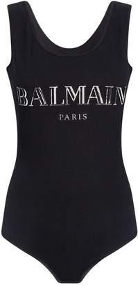Balmain Holographic Logo Bodysuit