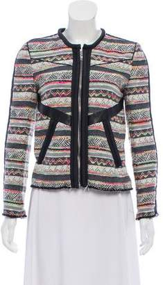 IRO Tribal Print Leather-Accented Jacket
