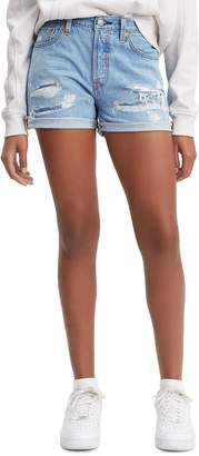 Levi's 501(R) High Waist Long Denim Shorts