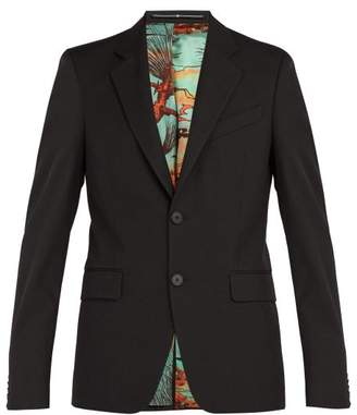 Givenchy Single Breasted Blazer - Mens - Black