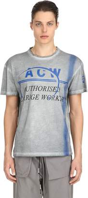 A-Cold-Wall* Acw Printed Cotton Jersey T-Shirt