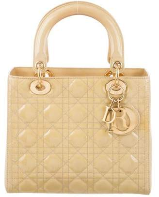 95a242e3f3e Christian Dior Patent Medium Lady Bag w/ Strap