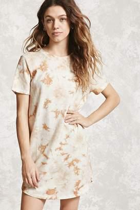 Forever 21 Crystal Dye T-Shirt Dress