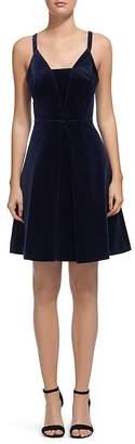 Whistles Suzie Velvet A-Line Dress