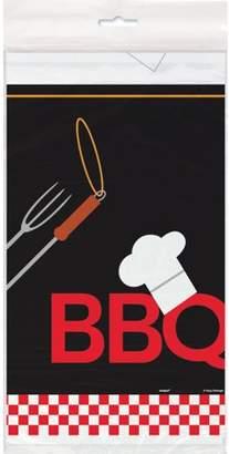 Generic Backyard BBQ Plastic Tablecloth, 84 x 54 in, 1ct