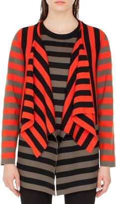 Akris Punto Stripe Open Cardigan