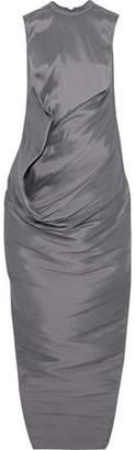 Rick Owens Gathered Silk-Taffeta Maxi Dress