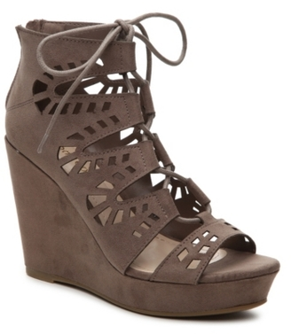 Bamboo Parker-53 Wedge Sandal $60 thestylecure.com